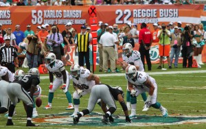 Quarterback Ryan Tannehill of the Miami Dolphins